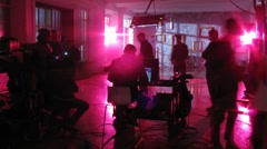 Stock Video Footage of Camera crew and support personnel shoot video for the song Letet by Rene