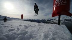 Ski Jump 4 Stock Footage