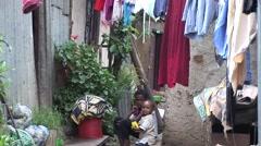 African urban slums Stock Footage
