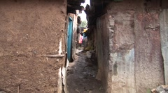 African poverty and slums - stock footage