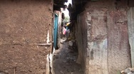 Stock Video Footage of African poverty and slums