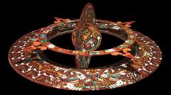 Mayan Doomsday kalenteri (teknisesti Aztec ei Mayan) alfa matta Arkistovideo