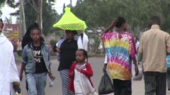 African street scene - stock footage