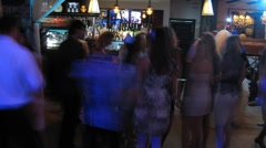 People dance at party in nightclub Stock Footage
