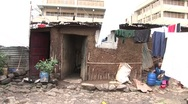 Stock Video Footage of Children and laundry in an African slum