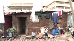 African city shanty town Stock Footage