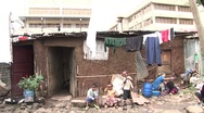 Stock Video Footage of African city shanty town