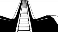Escalator animation hd 1080 Stock Footage