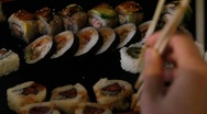 Stock Video Footage of Sushi for dinner