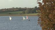 Stock Video Footage of Dinghies race on Rutland Water.