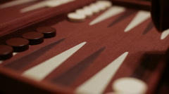 Backgammon double fours Stock Footage