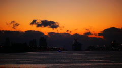 Miami harbor sunrise Stock Footage