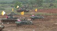 Taiwan military exercise mechanized assault Stock Footage