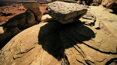 Wind & Rain Erosion of Rock - stock footage
