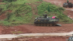 Taiwan military exercise mechanized infantry 1 Stock Footage