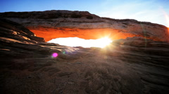 Mesa Arch Sunrise, USA Stock Footage