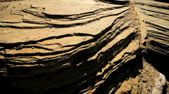 Natural Rock Erosion in Close-up Stock Footage