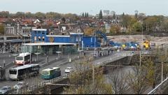 Demolish Delft blue buildings Stock Footage