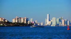 Fisher island ferry Stock Footage