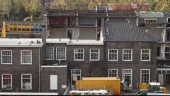 Demolish buildings Stock Footage