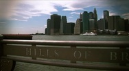New York-from Hills of Brooklyn Stock Footage
