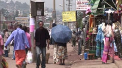 African street and shops in Addis Ababa - stock footage