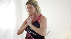 Grace and Strength Yoga Instructor Stock Footage