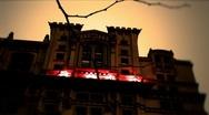 New York-Mansion Dark Stock Footage