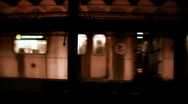 New York-Subway train passing2 Stock Footage