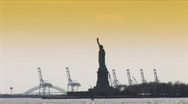 New York-Statue of Liberty 1-15A Stock Footage