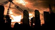 New York-gound zero cranes Stock Footage