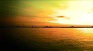 New York-Sky Line sunset Stock Footage
