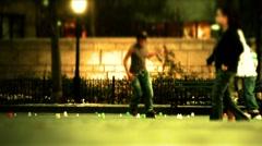 New York-public skating Stock Footage