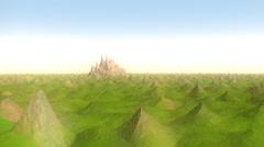 Spiky Landscape 720P - stock footage