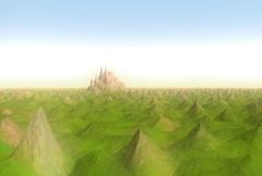 Spiky Landscape NTSC - stock footage