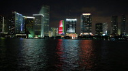 Miami during christmas season Stock Footage