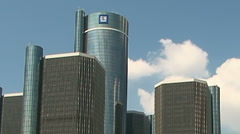 Detroitin Renaissance Center Arkistovideo
