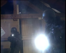 SWAT / Special Forces storming room - stock footage