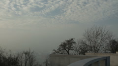 Fog covers the city. Stock Footage