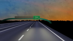 Road to Future HD Stock Footage