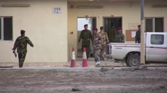 Iraqi Army Troops - stock footage