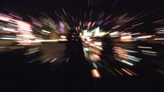 Night City Abstract Stock Footage