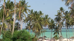 Zanzibar Tourist resort - stock footage