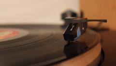 Vinyl Record Player Stock Footage