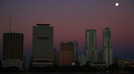 Moon over Miami Stock Footage