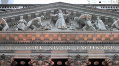 New York Stock Exchange Close-up - stock footage