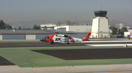 Stock Video Footage of Coast Guard Helicopter Takeoff (short)