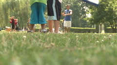 Kids play wiffle ball (3 of 3) - stock footage