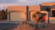Southwest Adobe Luxury Home Stock Footage