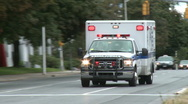 Stock Video Footage of Emergency vehicle races by